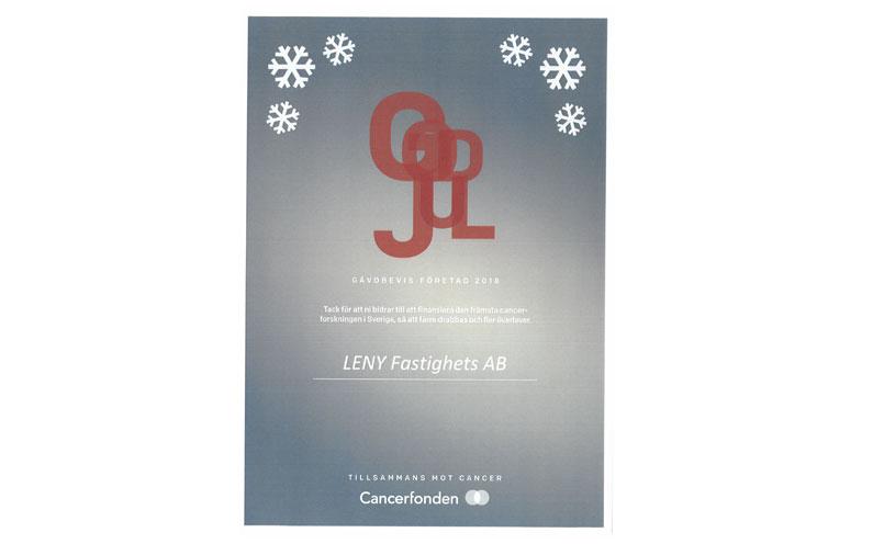 Julgåva från LENY Fastighets AB