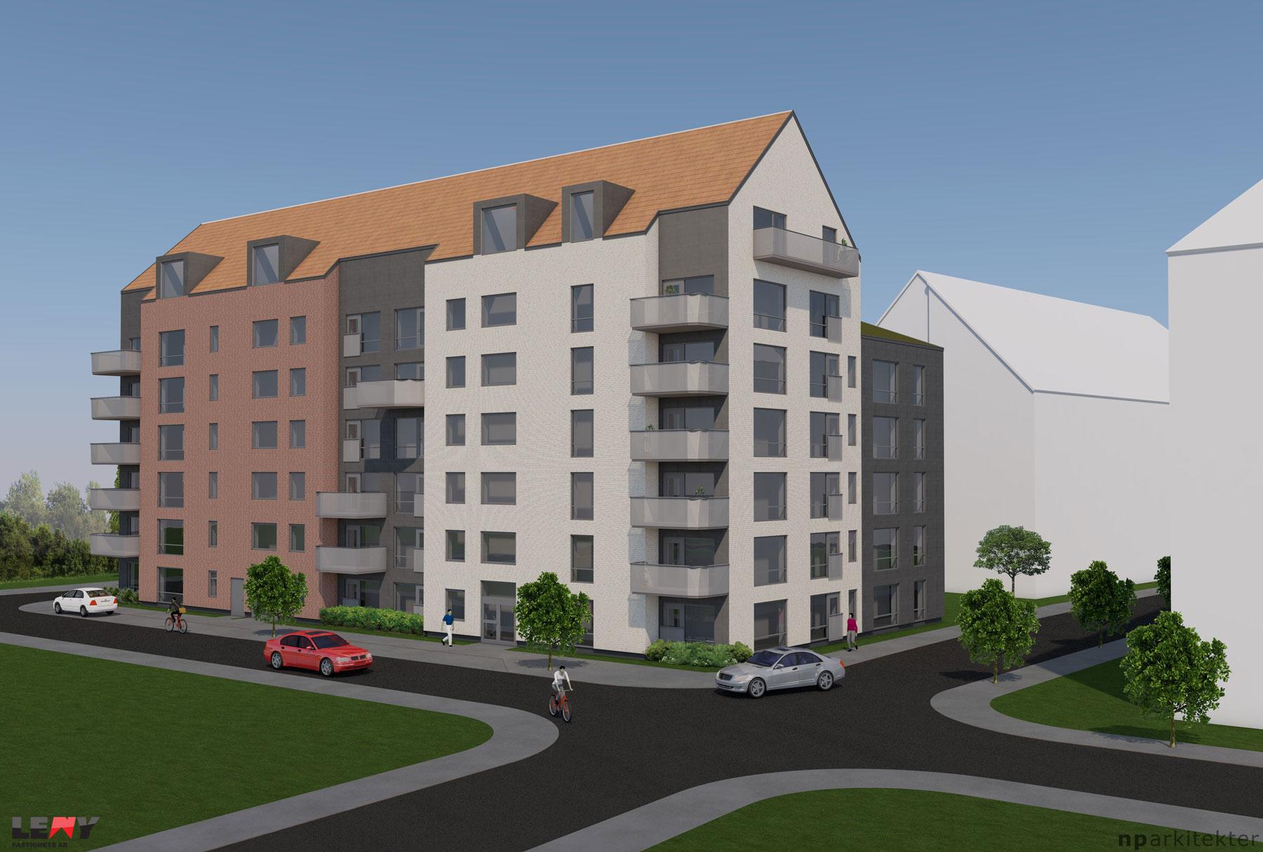 """Nybyggnad 48 lägenheter """"Sockerstan"""" Staffanstorp"""
